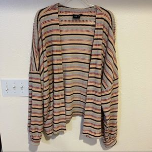 Out From Under Oversized Cardigan Sweater Striped